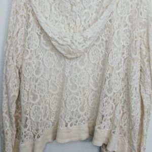 New Directions Lacy hooded cardigan